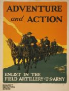 Vintage WW1 Recruiting Poster for the Field Artillery